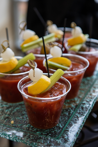 Bloody Marys with essential garnish