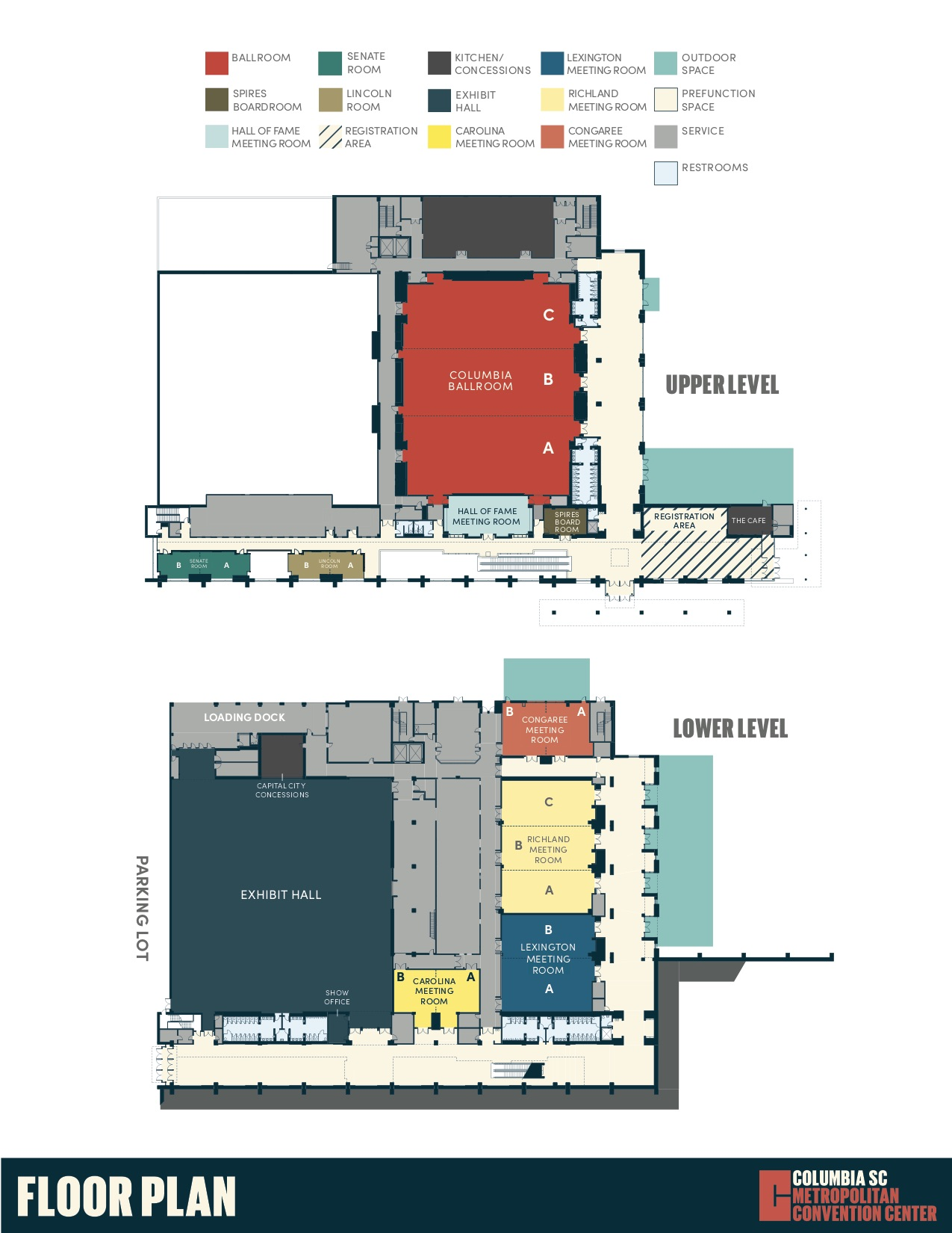 Upper & Lower Level Level Floor Plan