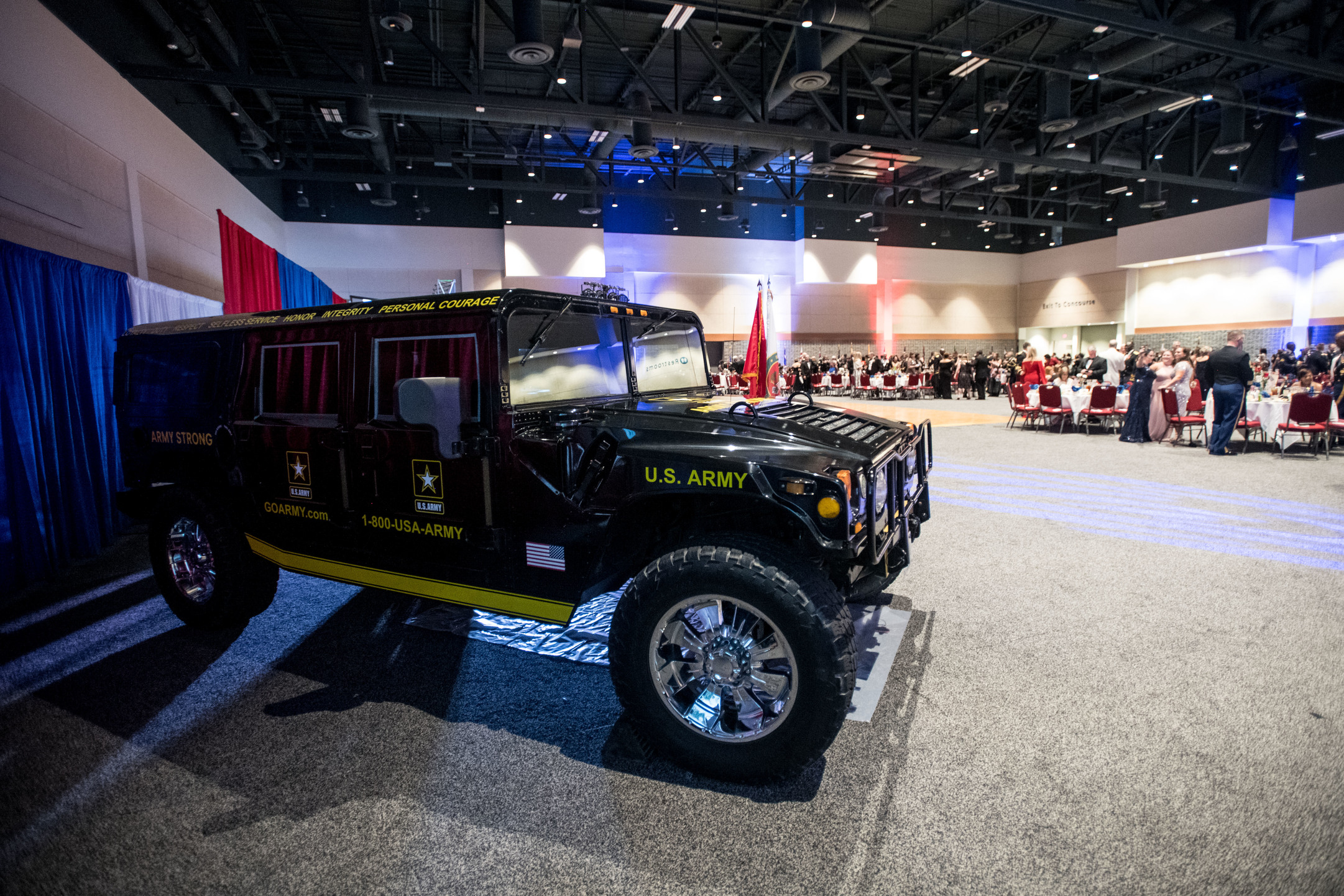 Army Truck inside Exhibit Hall